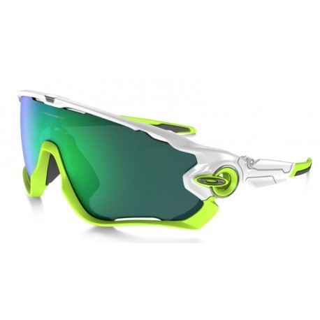 Oakley Sunglasses Jaw Breaker Polished White/Jade Iridium