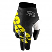 100% Glove Itrack Black Fluo